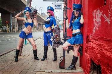 League of Legends Officers by Kinpatsu-Cosplay