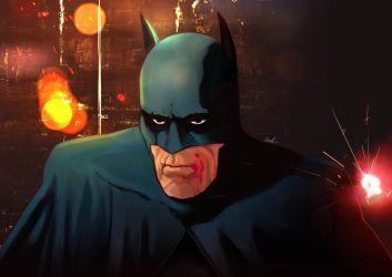 Batman - Battered by Rathan-Marxx