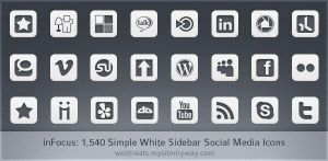 Simple White inFocus Icons by WebTreatsETC