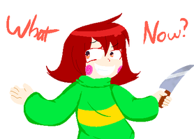 Chara -what now?- by NecroGhostMango