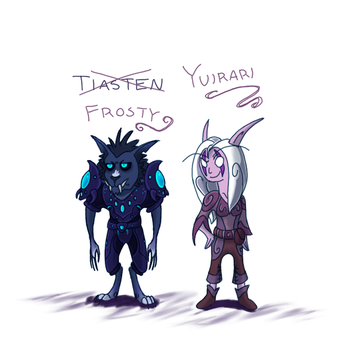 Tias and Yuir Chibis by CriexTheDragon