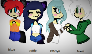 Aphmau (dottie Blaze Katelyn And Travis by noalol