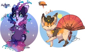 Mythfoxy And Foxfan AuctionOpen by IzaPug