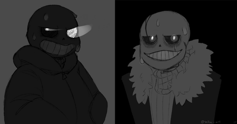 Sans And Gaster Snas by velka