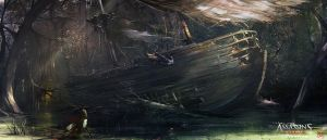 Assassin's Creed 3 : Liberation . Wrecked Ship by nachoyague