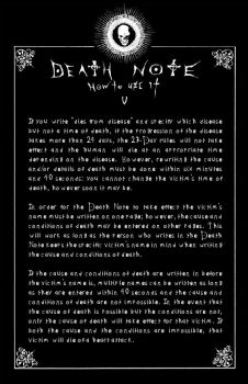 Deathnote Rules - page 5 by deathNote-club