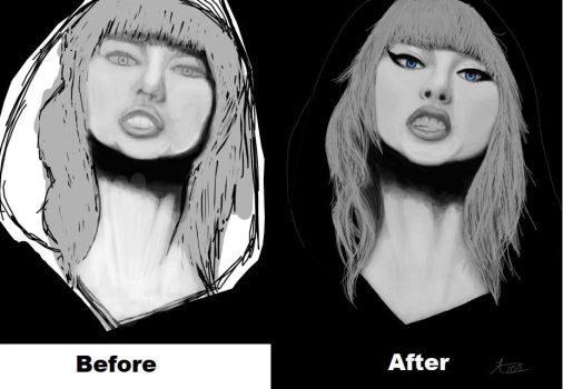 Before and After Image Taylor Swift by Autumnpeace100
