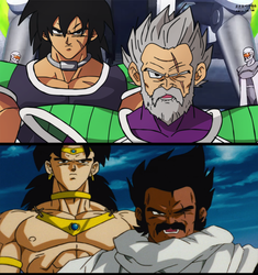 Remake Broly and Paragus by daimaoha5a4