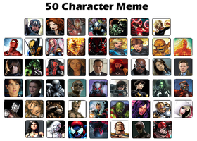 50 Marvels by WOLFBLADE111