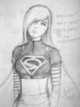 Supergirl [5 minutes sketch] by Felnix