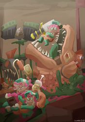 the gang plays salmon run by highrescucumber