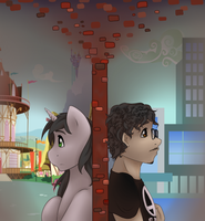 Two halves of a whole by Art-forArts-Sake