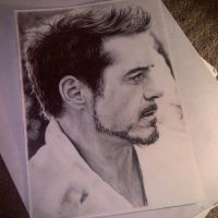 Robert Downey Jr  by Ginchilla194