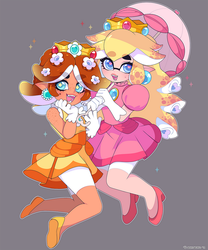 Splatoon: Peach n Daisy Inks by QueenAshi