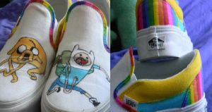 finn and jake shoes by 4Meezy4