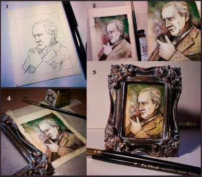 Tolkien portrait by Kinko-White
