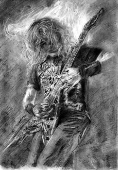 Dave Mustaine by the-ChooK