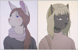 portrait commission type by nyacayn