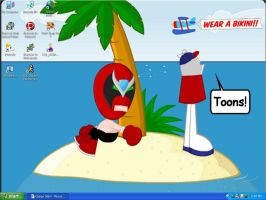 June Wallpaper 04- Homestar by dawny