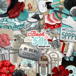 Digital Scrapbooking - Scrapkit Back to the 50s by Rickulein