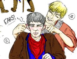 Merlin and Arthur by Chamomilage