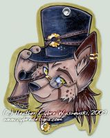 AC Badge :: Steampunk Wolf by cybre