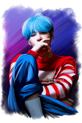 Suga (Love Yourself) BTS Fanart byBiaLobo by BiaLobo