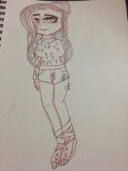 Trying to draw me in real life by CutseyPotatoe