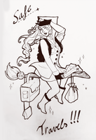 best of inktober #4: Travelling Witch by Witequeen