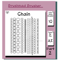 Illustrator Chain brush part 2 by brushmad