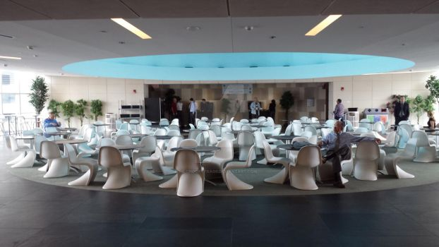 Lunch around Kubrick's Roundtable of Chairs by choopytrags