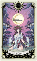 Tarot card 18- theMoon by rann-poisoncage