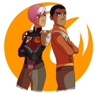 Rebellious space kids by Meldy-Arts