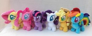 Mane 6 Mini Ponies by LiLMoon