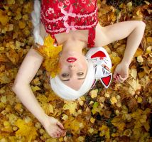 Kitsune and the autumn leaves (updatet) by kitsune89