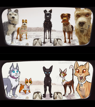 Isle of Dogs screenshot redraw by CalicoPikachu