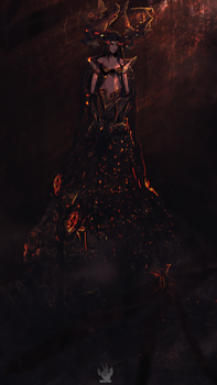 Demon Queen of the Burning Forrest by TakuX