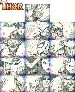 Thor Sketch cards wave two by Jonboy007007