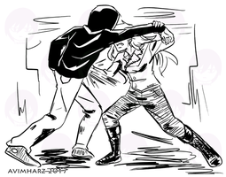 Practice fight sketch no. 8 by avimHarZ