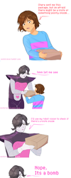 Undertale comic : Present for Frisk by atomicheartlight
