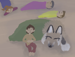 Weekly Quest- Lina Joins in Nap time  by magikwolf