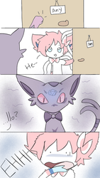 The new Esveon (part 1) by AnySketches