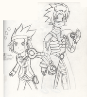 Pokemon Colosseum and XD - Wes and Michael by PKMNTrainerSpriterC