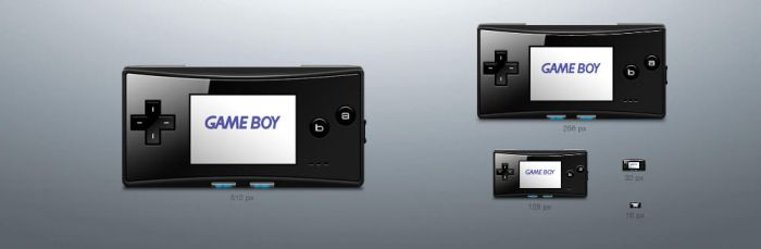 Game Boy Micro icons by averto
