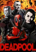 Deadpool poster [MOUSE ONLY] by HikaruSoul