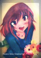 Cute Anime Girl With Flowers! by KmaKmaChau