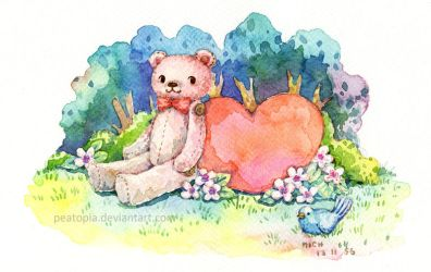 Heartful Bear by peatopia