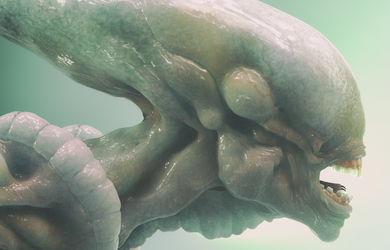 Alien Xenomorph Cinema 4D Arnold Render by botshow