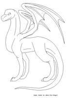 adult male dragon base by alice-the-dragon