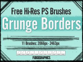 Grunge Borders PS Brush Set by fudgegraphics
